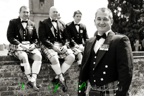 The boys! - Careful with the kilts!