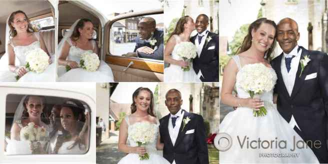 wedding photography bride arriving