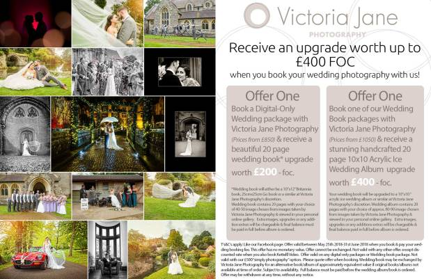 Amazing May Bank Holiday Wedding Photography Special – Victoria Jane Photography